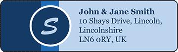 Monogrammed Nautical Wedding Address pre-designed label template for EU30017