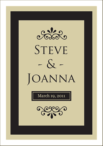 Wedding Wine Label pre-designed label template for EU30033