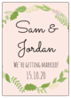 Botanical Wedding Wine Bottle Labels
