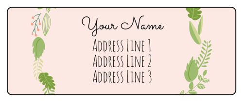 Botanical Wedding Address Label pre-designed label template for EU30011