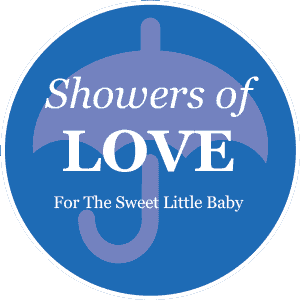 Baby Shower - Blue pre-designed label template for EU30020