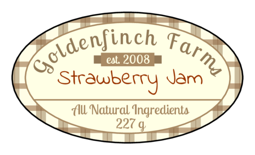 Plaid Jar Labels pre-designed label template for EU30026