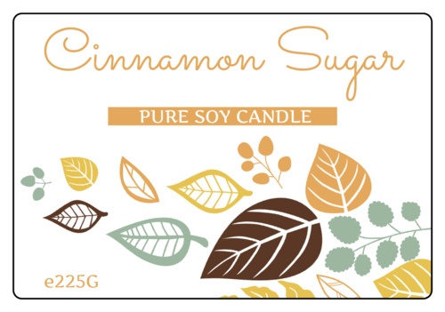 Autumn Candle Jar Labels pre-designed label template for EU30008