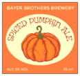 """Spiced Pumpkin Ale"" Beer Bottle Labels"