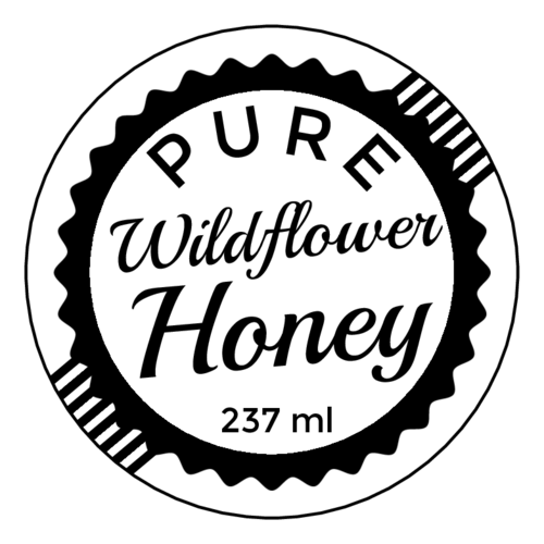 Vintage Stamp Honey Jar Label pre-designed label template for EU30065