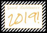 """""""Good Riddance!"""" Champagne Bottle Labels"""