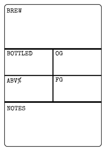 Write-in Beer Bottle Label pre-designed label template for EU30008