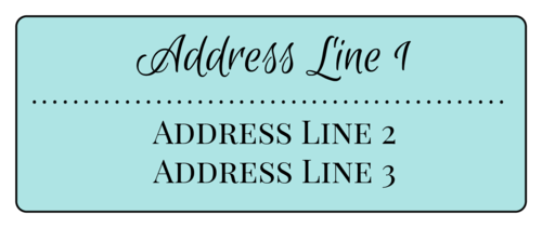 Simple Address Labels pre-designed label template for EU30011