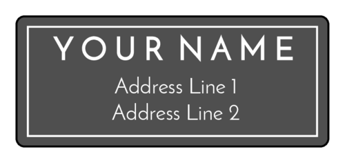 EU30124 - 60mm x 25mm - Modern Address Labels
