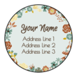 Floral Address Labels