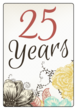 Floral Anniversary Wine Bottle Labels