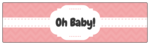 Chevron Baby Shower Water Bottle Labels