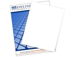 Full Sheet Label - Vertical Slit on Liner Side