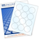 Glossy Round Label Sheet