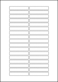 EU30207 - 70mm x 12mm Blank Label Template