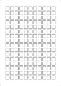 12mm x 12mm Labels Sample