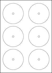 84mm x 84mm CD Labels Labels Sample
