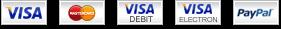 We accept: Visa, Mastercard, Visa Debit, Visa Electron, and Paypal