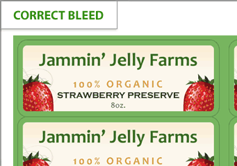 Correct bleed on a label design