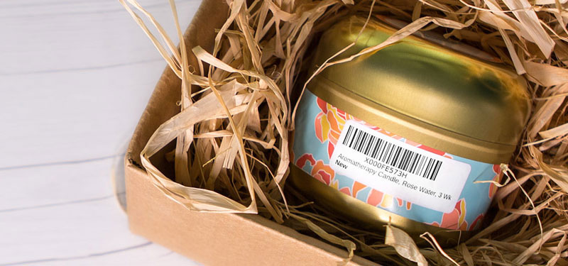 Barcode designed into product packaging