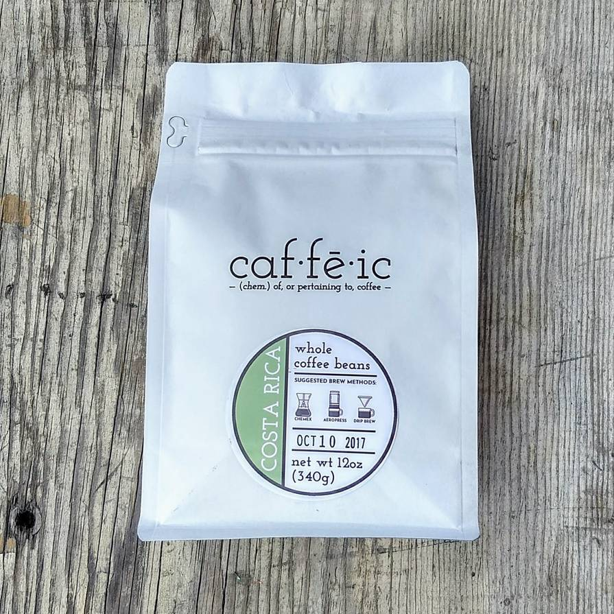 Caf-fe-ic brand coffee product example
