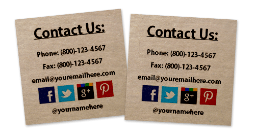 Contact information stickers