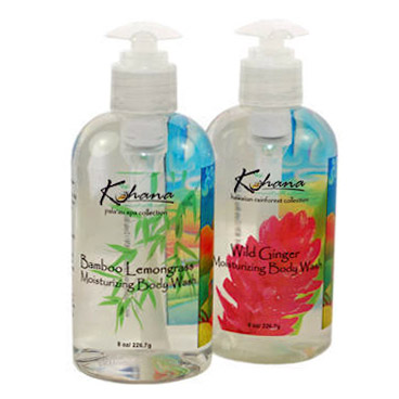 Kohana Skin's Body Wash with gloss clear label