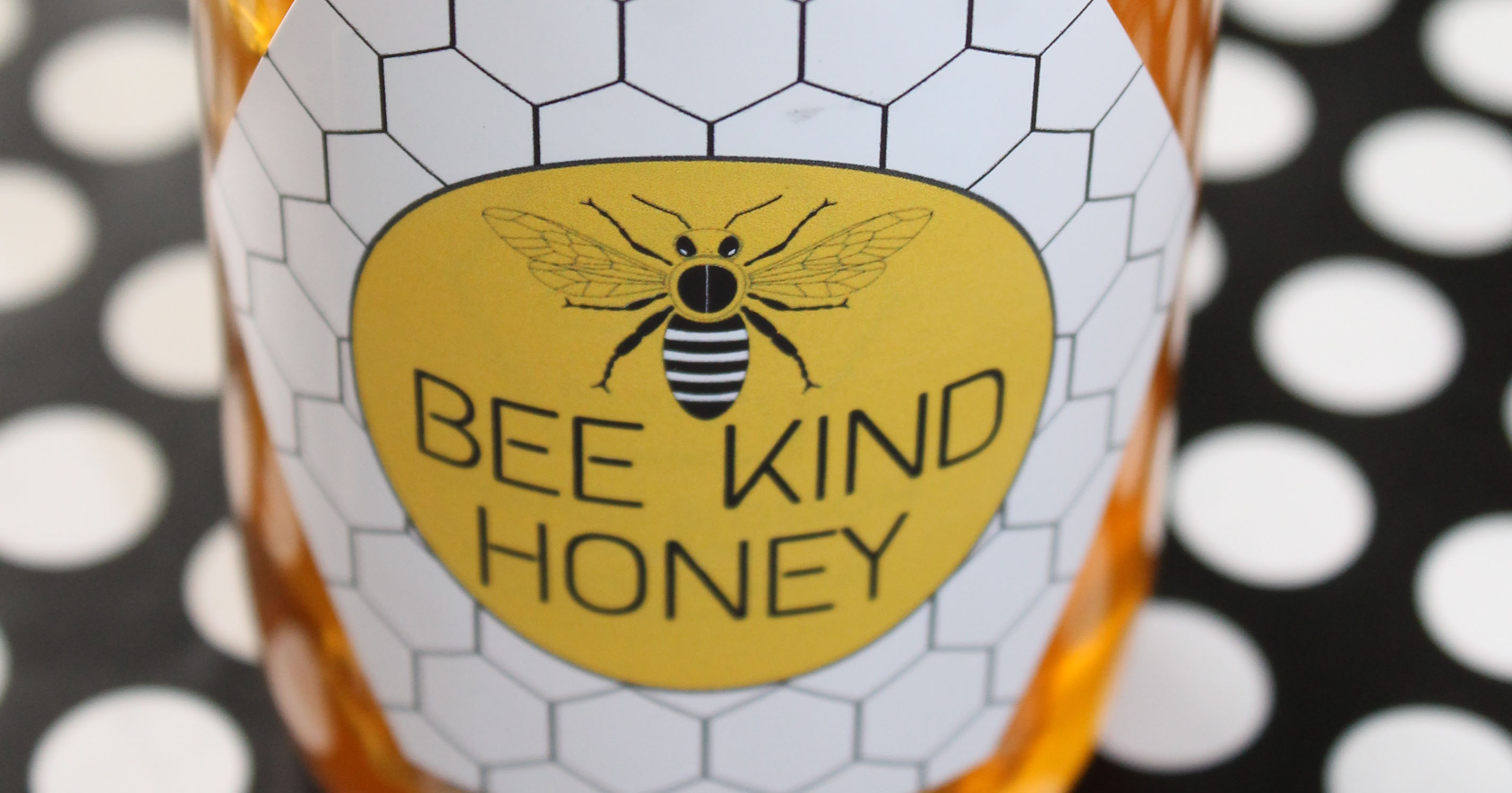 Free pre-designed label template for labelling homegrown honey.