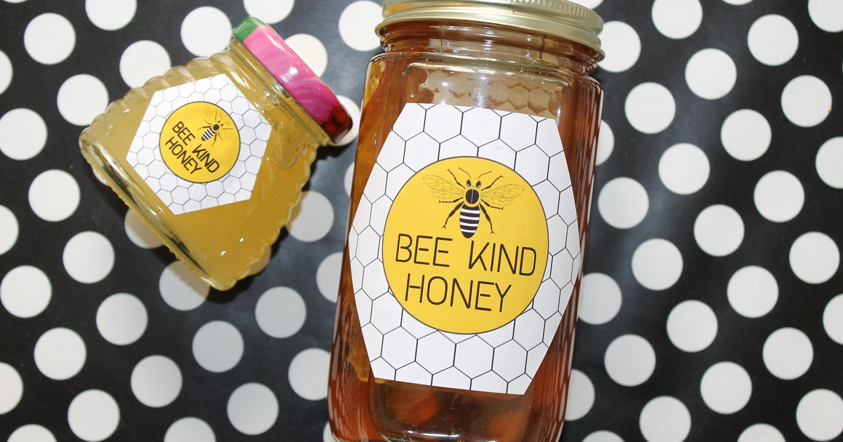 How to label local honey for sale, free printable templates