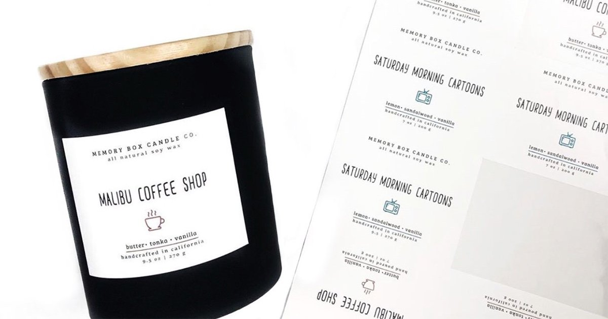 DIY candle business: creating your own labels