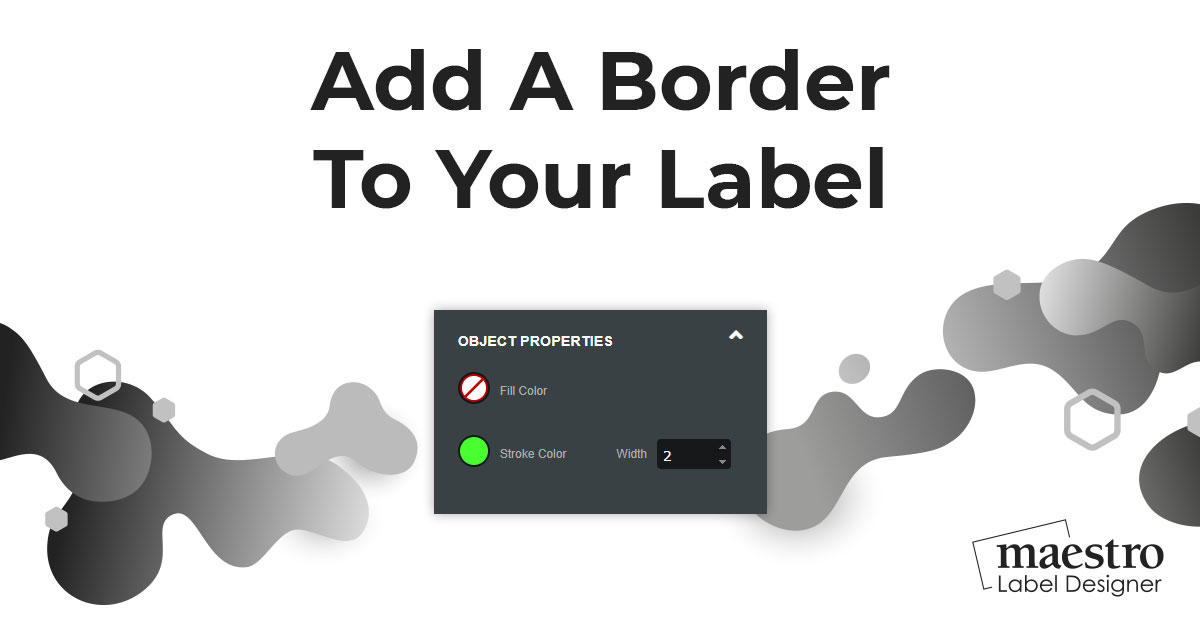 How To Add A Border To Your Label