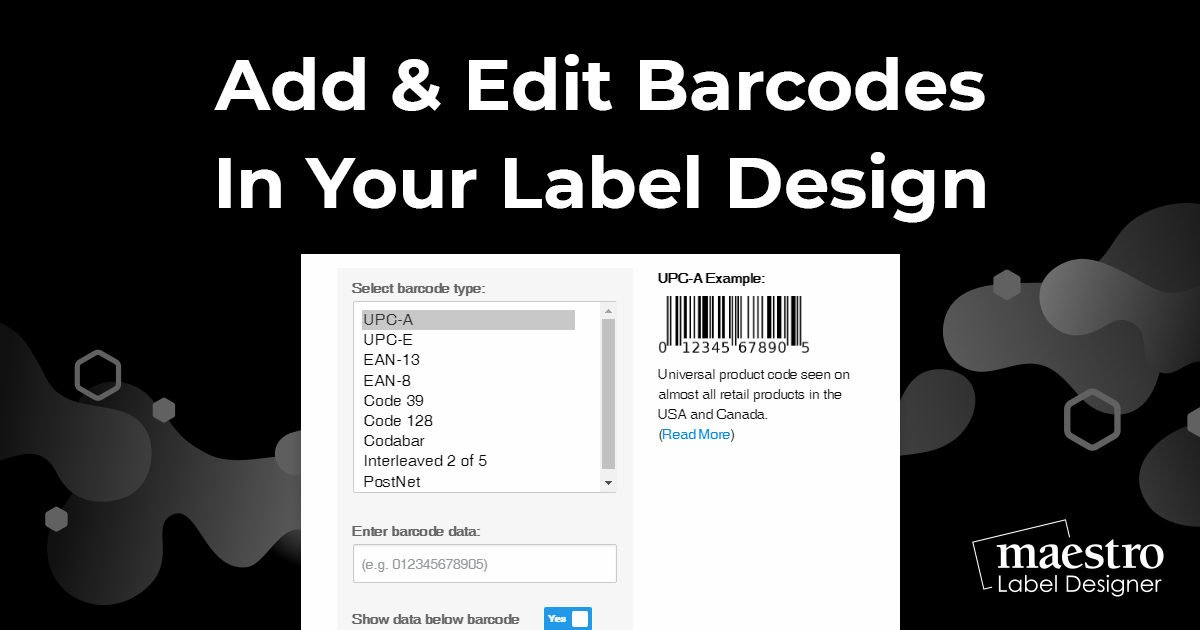 How To Add & Edit Barcodes In Your Label Design