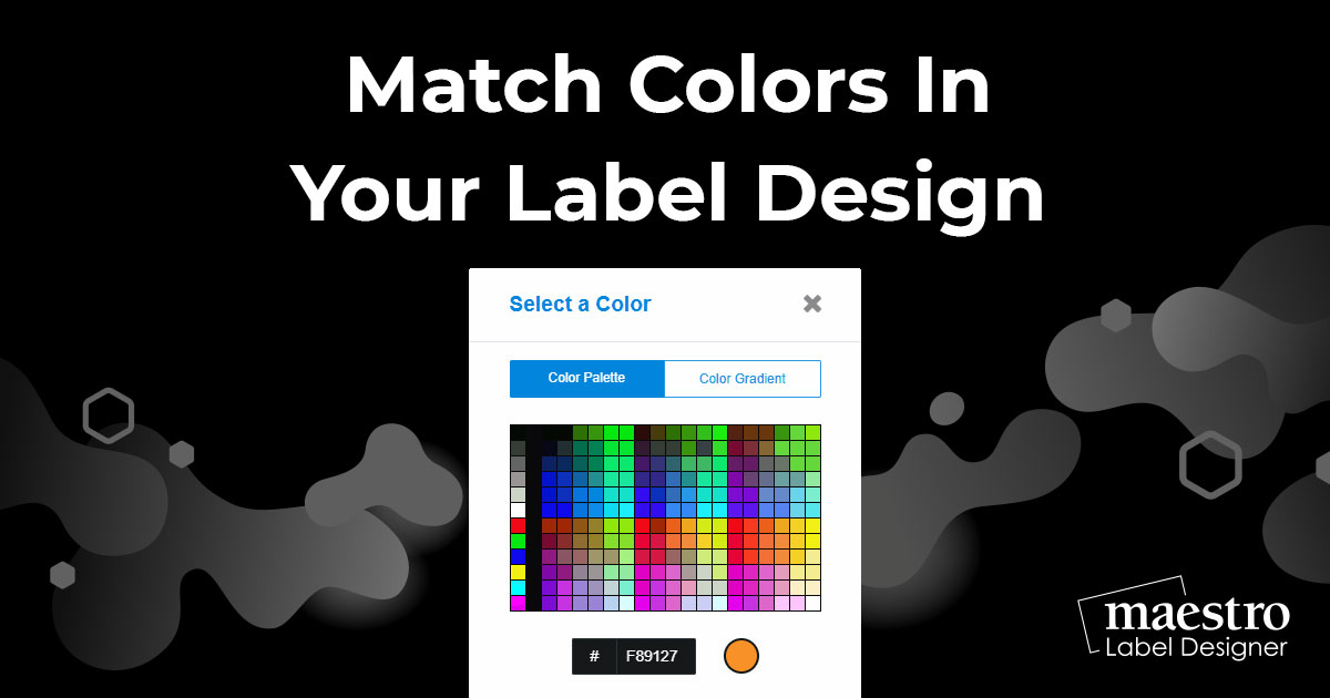 Matching colours in your images with objects on your label design in Maestro Label Designer