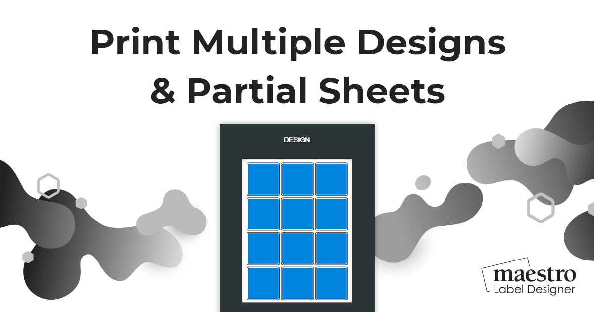How To Print Multiple Designs & Partial Sheets Using The Multi-Design Tool