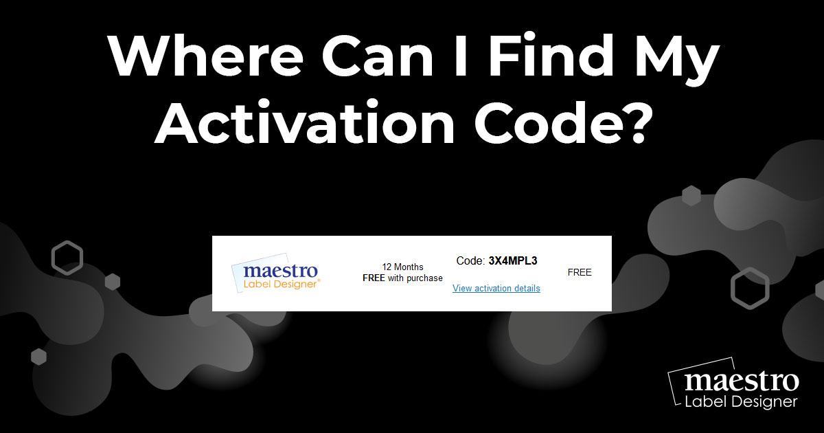 Where Can I Find My Activation Code? - Online Labels