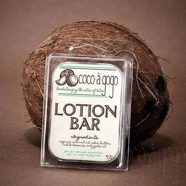 Cocoàgogo's lotion bar with matt clear label