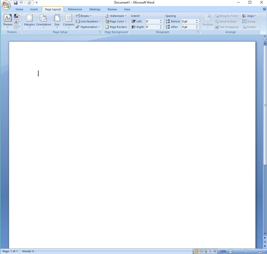 Adjusting Margins in Microsoft Word, Page Setup