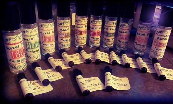 Perfume Oil Samples from Etsy store HootsGallery