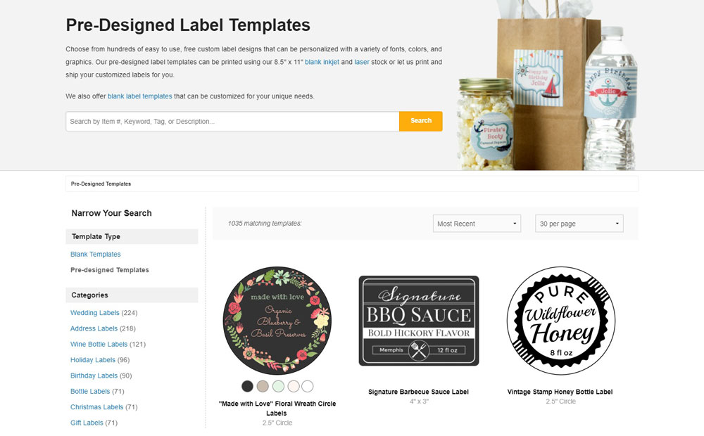Pre-Designed Templates by Online Labels