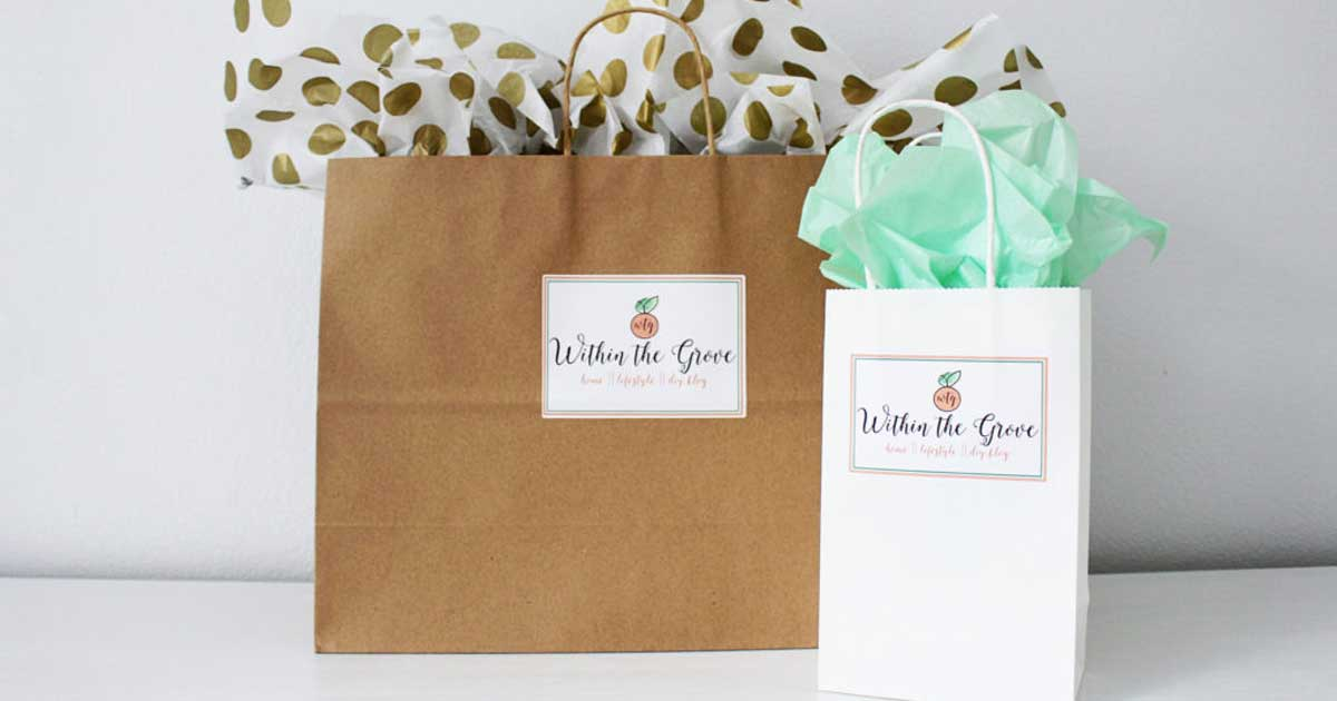 Branded shopping bags for small business purchases