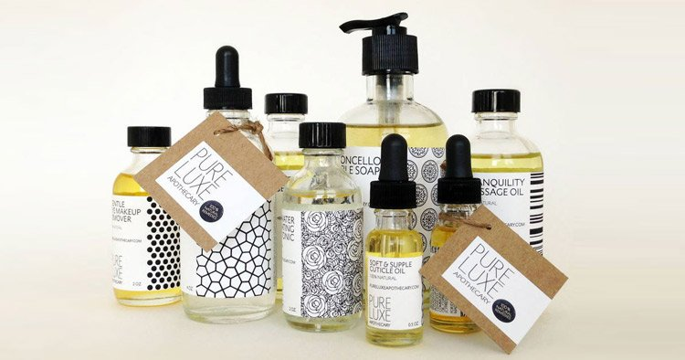 Apothecary label designs by Pure Luxe Apothecary