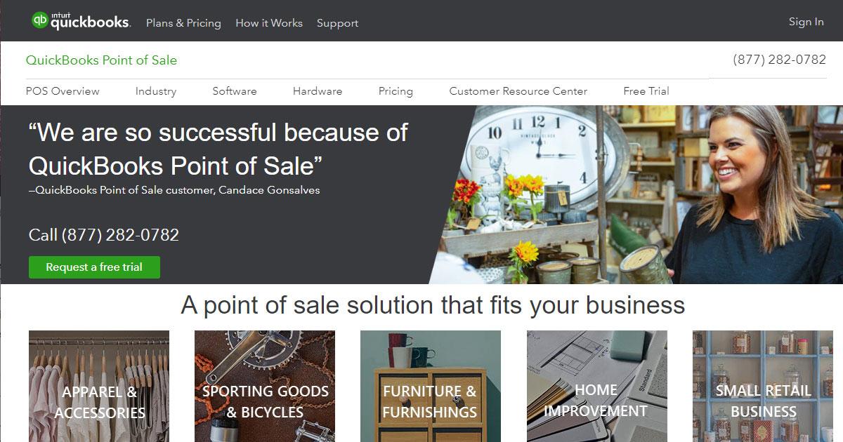 Intuit QuickBooks POS homepage