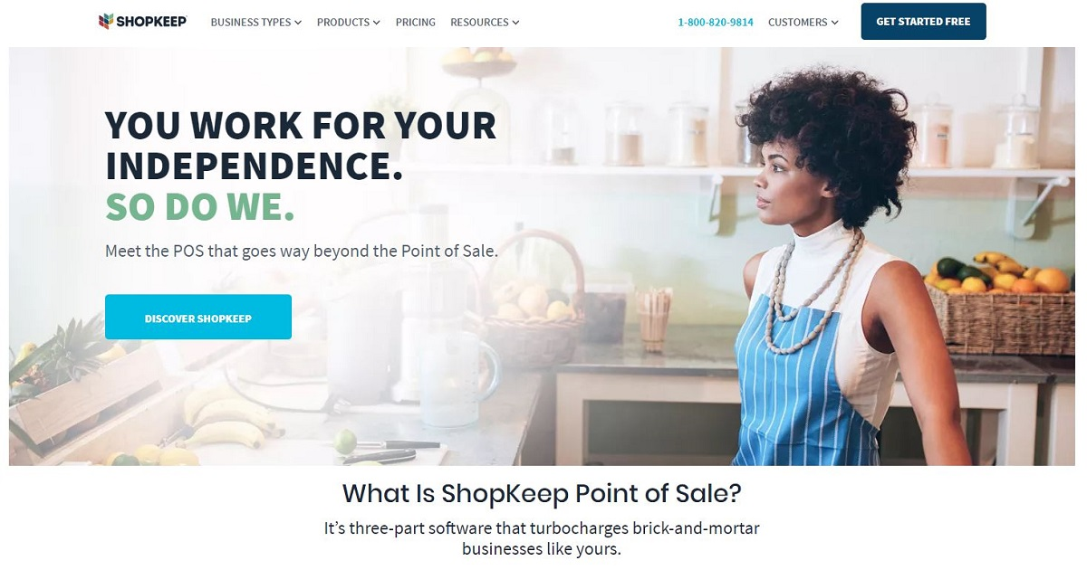 ShopKeep POS homepage