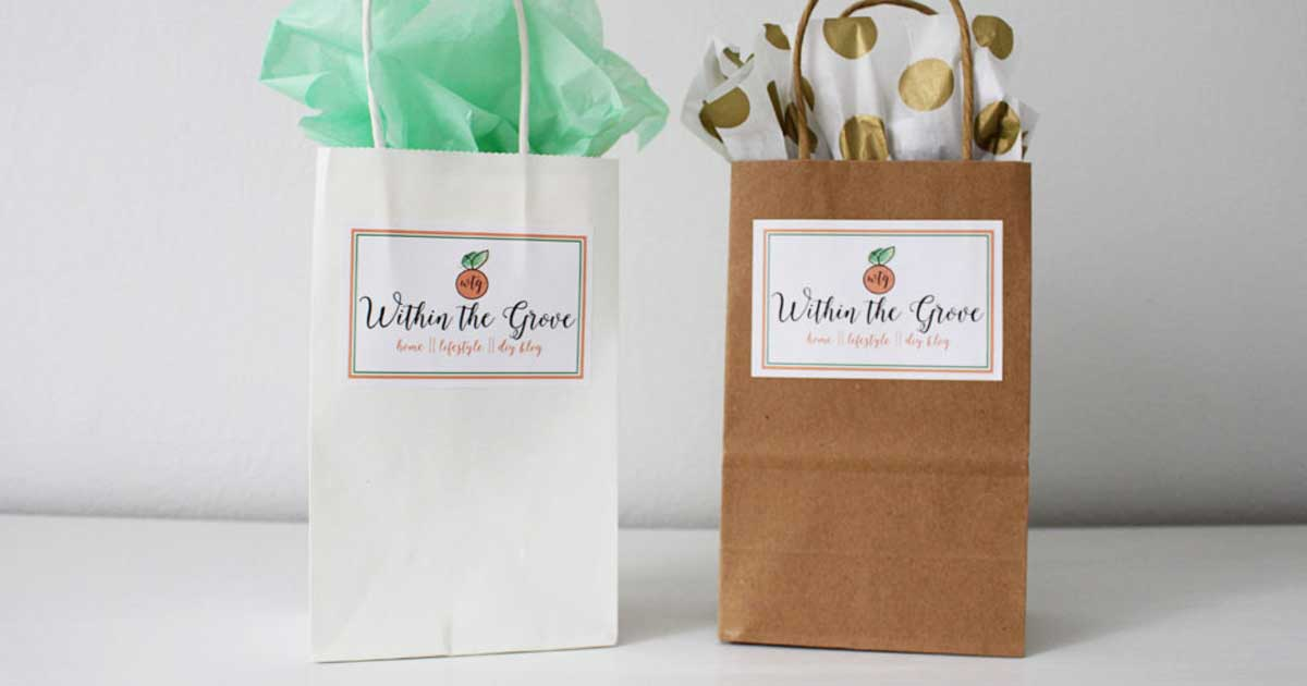 Logo'd bags for small purchases