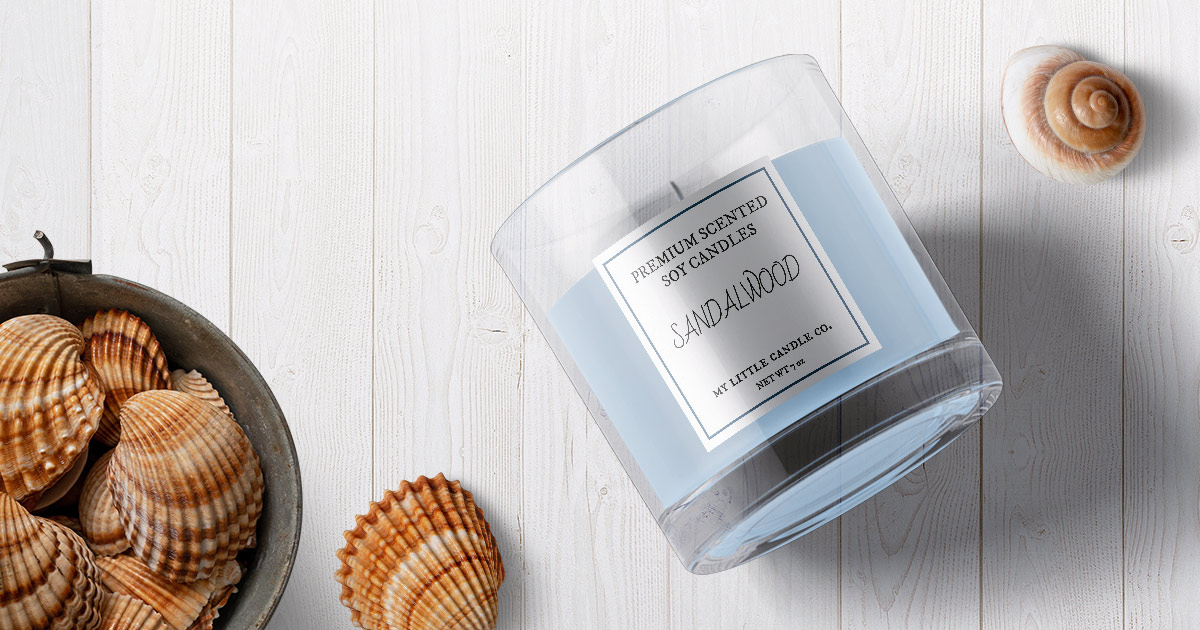 DIY candle label template