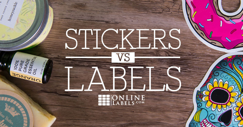 Difference between stickers and labels