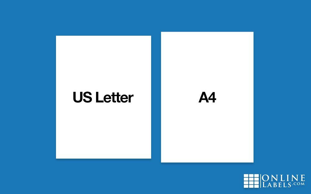 a4 labels sheets vs us letter