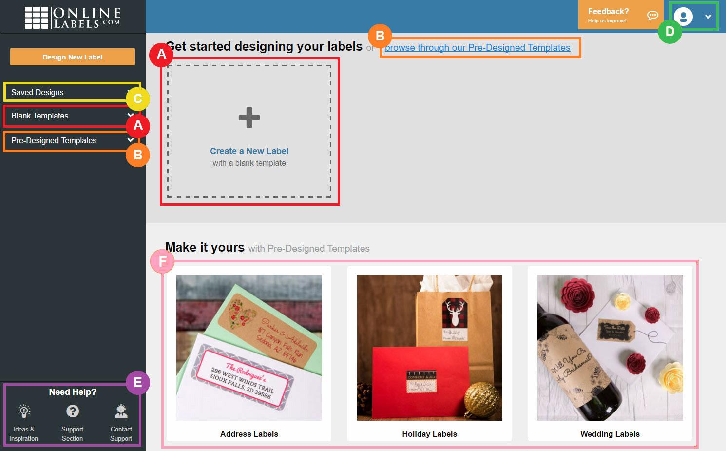 Maestro Label Designer Home Screen