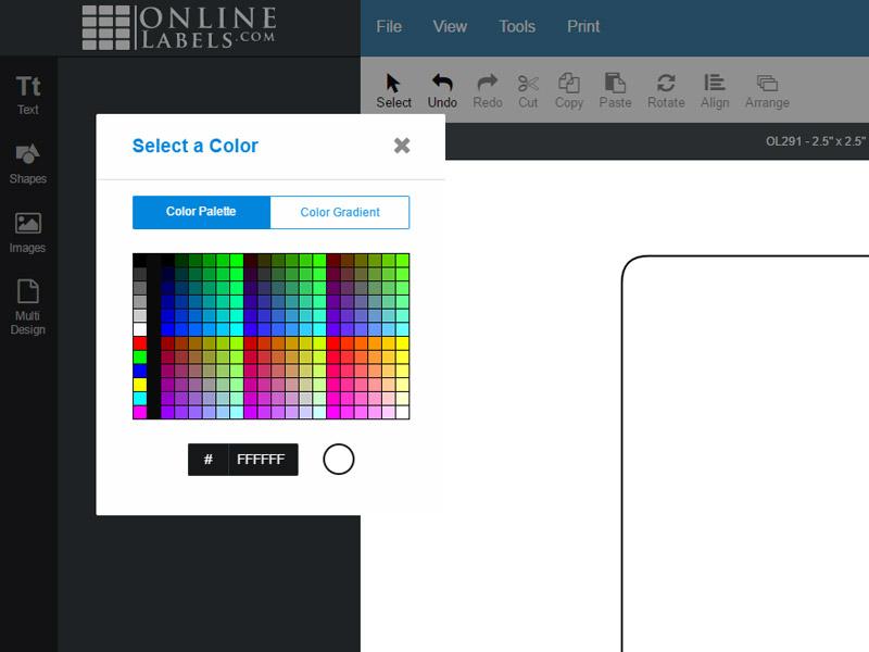 Maestrol Label Designer Colour Palette