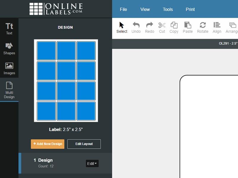 The multi design tab
